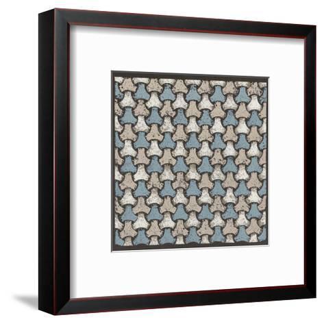 Interwoven Balls (Blue)-Susan Clickner-Framed Art Print