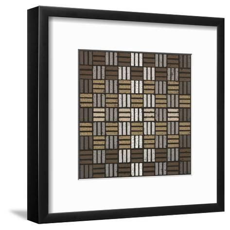 Basket Weave Triple Play (Neutrals)-Susan Clickner-Framed Art Print