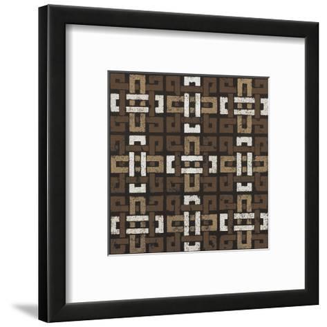 Large Knot 9 Square (Neutrals)-Susan Clickner-Framed Art Print