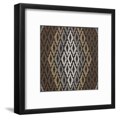 Moroccan Tile with Diamond (Neutrals)-Susan Clickner-Framed Art Print