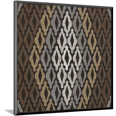 Moroccan Tile with Diamond (Neutrals)-Susan Clickner-Mounted Giclee Print