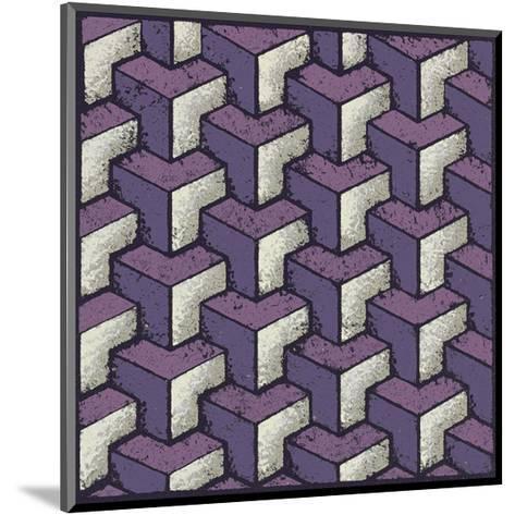 Three Part Tumbling Blocks (Purple)-Susan Clickner-Mounted Giclee Print