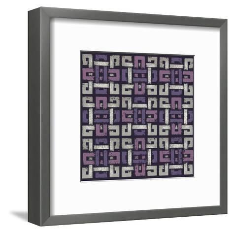 Large Knotted Weave (Purple)-Susan Clickner-Framed Art Print