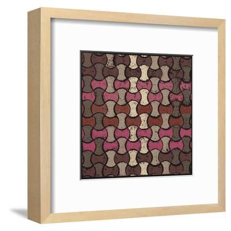 Basketweave Ovals (Red)-Susan Clickner-Framed Art Print