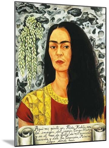 Self-Portait with Loose Hair - 1947-Frida Kahlo-Mounted Art Print