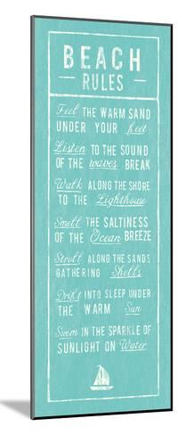 Beach Rules - Aqua-The Vintage Collection-Mounted Art Print