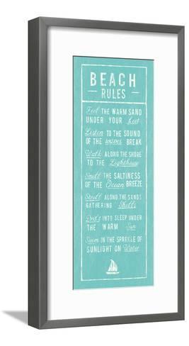 Beach Rules - Aqua-The Vintage Collection-Framed Art Print