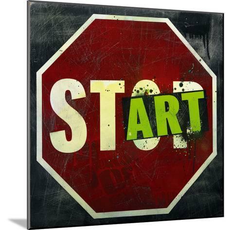 Start-Daniel Bombardier-Mounted Art Print