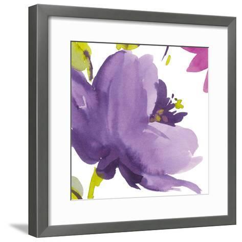 Violet Flower I-Sandra Jacobs-Framed Art Print