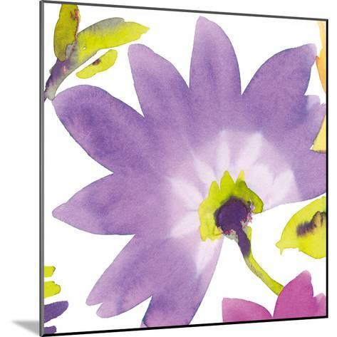 Violet Flower II-Sandra Jacobs-Mounted Giclee Print