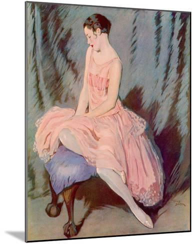 The Pink Dress-Lewis Baumer-Mounted Giclee Print