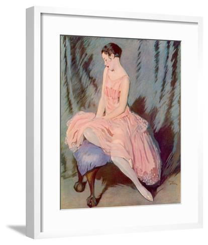 The Pink Dress-Lewis Baumer-Framed Art Print