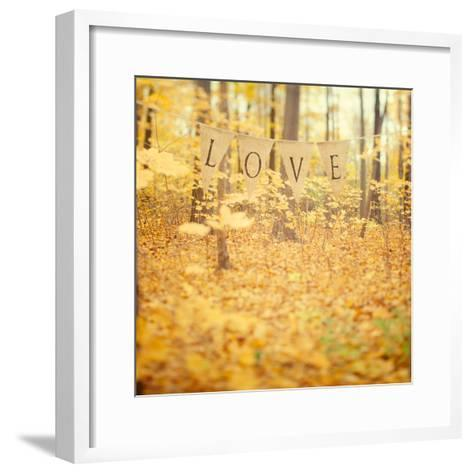 Autumn Love-Irene Suchocki-Framed Art Print