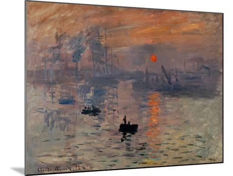 Impression, Soleil Levant-Claude Monet-Mounted Giclee Print