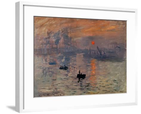 Impression, Soleil Levant-Claude Monet-Framed Art Print