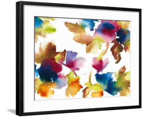 Floral Mystic-Tanuki-Framed Art Print