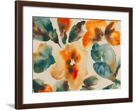 Floral Portrayal-Tanuki-Framed Art Print