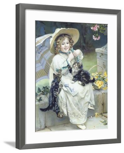 Playful Kittens-Arthur Elsley-Framed Art Print
