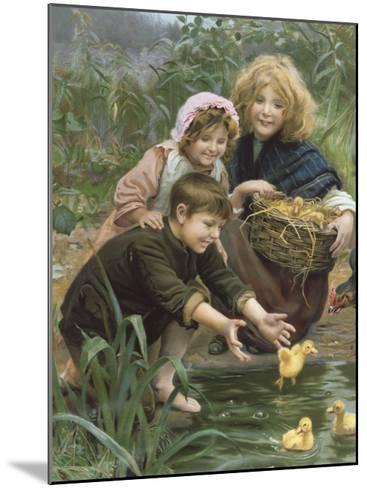 Learning to Swim-Arthur Elsley-Mounted Premium Giclee Print