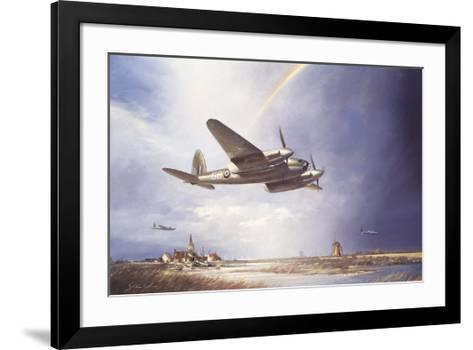 Low-flying Mosquito-John Young-Framed Art Print