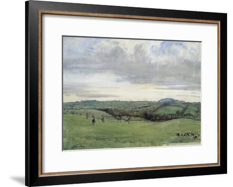The Quorn, Coplow From Quemby-Lionel Edwards-Framed Art Print