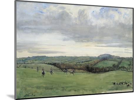 The Quorn, Coplow From Quemby-Lionel Edwards-Mounted Premium Giclee Print