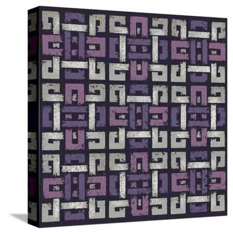 Large Knotted Weave (Purple)-Susan Clickner-Stretched Canvas Print