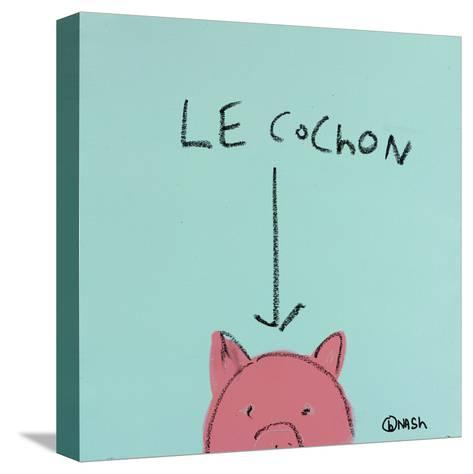 Le Cochon-Brian Nash-Stretched Canvas Print