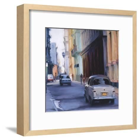 Slow Ride - Havana, Cuba-Keith Wicks-Framed Art Print