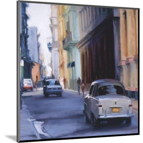 Slow Ride - Havana, Cuba-Keith Wicks-Mounted Giclee Print