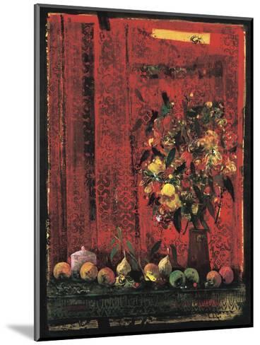 Mesa con Mantel Rojo-Juaquin Hidalgo-Mounted Giclee Print