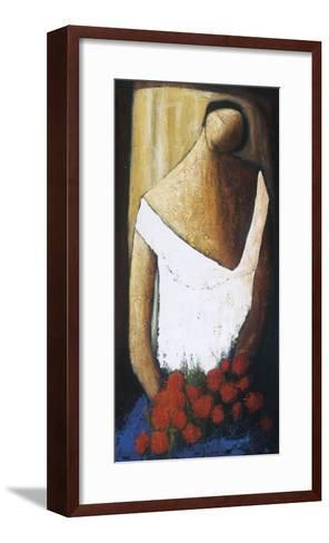 Quelques Fleurs sur Bleus d'Azur-Natalie Savard-Framed Art Print