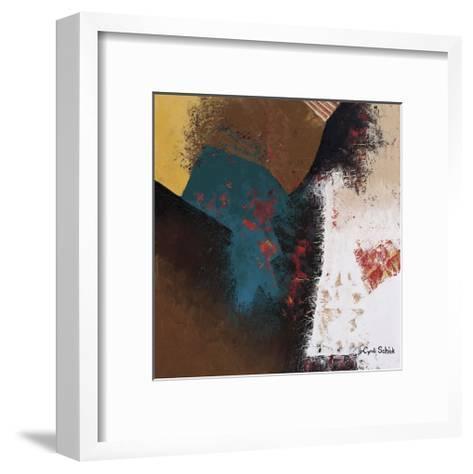 Teal Abstract II-Cyndi Schick-Framed Art Print