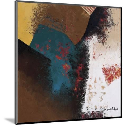 Teal Abstract II-Cyndi Schick-Mounted Giclee Print