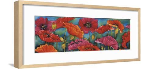 Poppy Parade-Helen Downing-Hunter-Framed Art Print