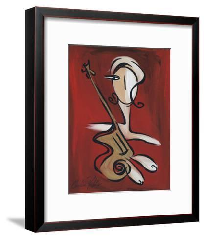 Woman with Guitar-Christian Pavlakis-Framed Art Print