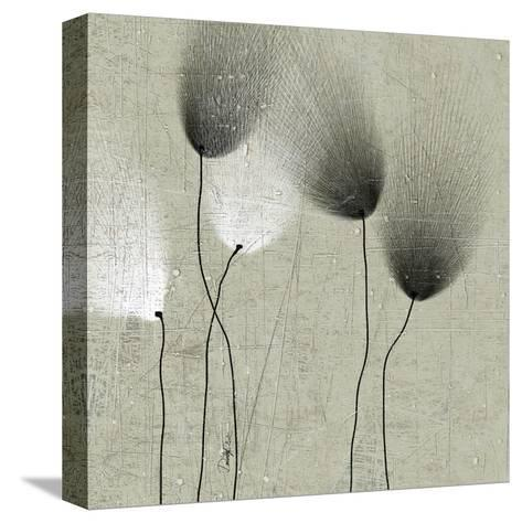 Floral in Shades II--Stretched Canvas Print