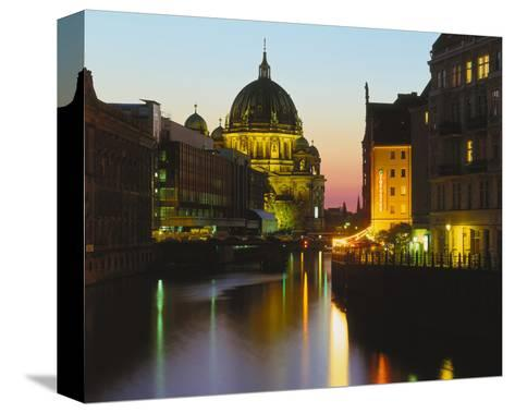 Berlin Cathedral River Berlin--Stretched Canvas Print