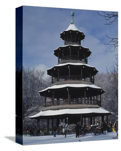 Chinese Tower Munich Germany--Stretched Canvas Print
