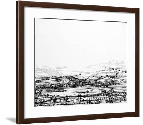 Linescape 3-Heike Negenborn-Framed Art Print