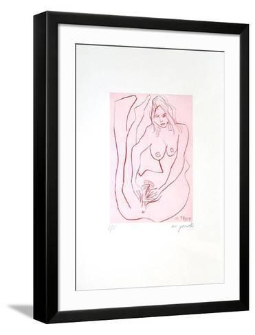 Jetset 3 Erotische Frau-A^ R^ Penck-Framed Art Print
