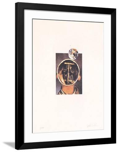 Il sole nero (dal mondo degli automi)-Giulio Paolini-Framed Art Print
