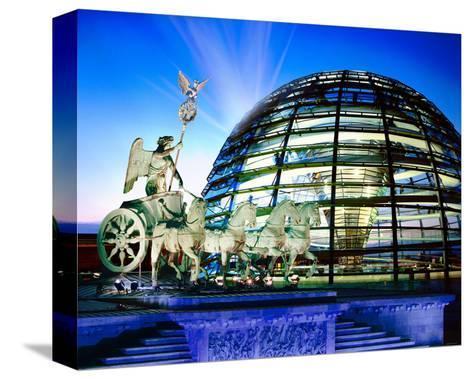 Cupola Quadriga Gate Berlin--Stretched Canvas Print