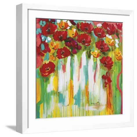 Poppies Glowing-Amanda J^ Brooks-Framed Art Print