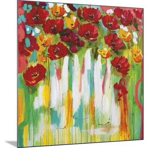Poppies Glowing-Amanda J^ Brooks-Mounted Art Print