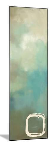 Retro in Aqua and Khaki I-Laurie Maitland-Mounted Art Print