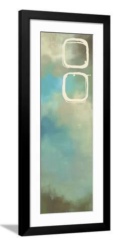 Retro in Aqua and Khaki III-Laurie Maitland-Framed Art Print