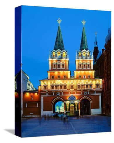Voskressensky Gate to the Red Square, Moscow, Russia--Stretched Canvas Print