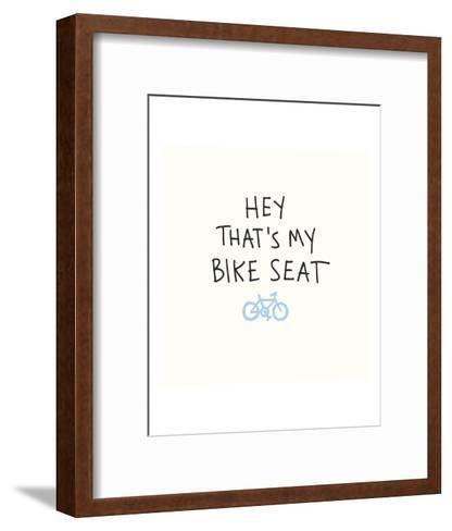 Bike Seat-Urban Cricket-Framed Art Print