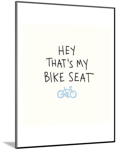Bike Seat-Urban Cricket-Mounted Art Print